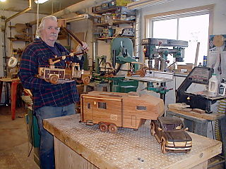 Wisconsin Woodchuck in his shop 2